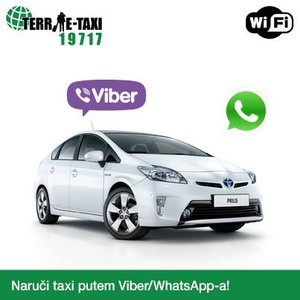 Закажи такси с помощью viber или WhatsApp